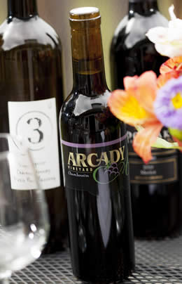 Arcady Vineyard produced a red Amorone style dessert wine in 2012